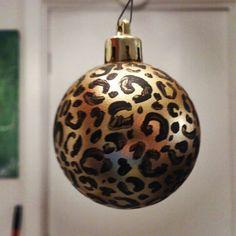 Cheetah print Christmas ornament :)
