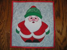 Mini Santa Clause Wall Hanging by icepurplepenguin on Etsy, $20.00