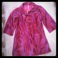 Uncle Frank/Ivy Jane Pink 4 button faux fur vintage style peacoat Ivy Jane Jackets & Coats Pea Coats