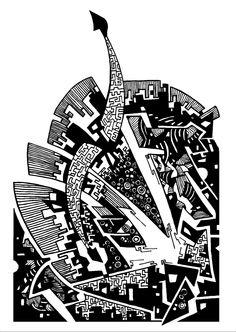 Francois Pretorius - Of Heart & Home 028 Africa, Fine Art, City, Heart, Illustration, Design, Pictures, Illustrations, Design Comics