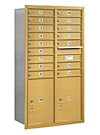 4C Horizontal Mailbox - 15 Door High Unit (55 Inches) - Double Column - 16 MB1 Doors / 2 PL6's - Gold - Rear Loading - USPS Access by Salsbury Industries. $1012.21. 4C Horizontal Mailbox - 15 Door High Unit (55 Inches) - Double Column - 16 MB1 Doors / 2 PL6's - Gold - Rear Loading - USPS Access - Salsbury Industries - 820996413079. Save 26% Off!