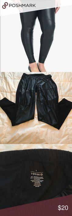 Torrid leggings Torrid black faux leather leggings torrid Pants Leggings