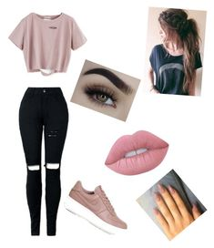"""Cute shiiii"" by taylorharford on Polyvore featuring NIKE and Lime Crime"