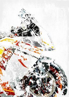 My Superbike series, artwork b. detailed, premium quality, magnet mounted prints on metal designed by talented artists. Ktm Rc8, Sportbikes, Hologram, Cars And Motorcycles, Poster Prints, Authenticity, Artwork, Pencil Sketching, Sports Posters