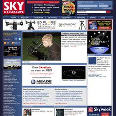 The website 'http://www.skyandtelescope.com/' courtesy of Pinstamatic (http://pinstamatic.com)
