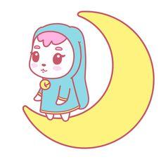 Moon Bunny // by Missiku Whitey #illustration #pastel #kawaii