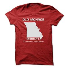 Old Monroe T Shirts, Hoodies. Get it now ==► https://www.sunfrog.com/LifeStyle/Old-Monroe-MO1.html?57074 $23