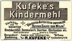 Original-Werbung/ Anzeige 1898 -  KUFEKE'S KINDERMEHL / BERGEDORF / HAMBURG - ca. 90 x 50 mm
