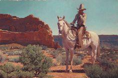 Cowboy smoking. 36×24 inches. Oil on linen. 2015. (SOLD) | Mark Maggiori