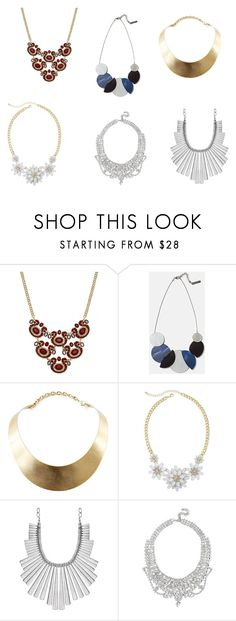 """""""Fall Statement Necklaces"""" by guide2style on Polyvore featuring INC International Concepts, Lafayette 148 New York, GUESS, Mixit and Lucky Brand"""