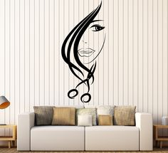 Vinyl Wall Decal Hair Salon Scissors Stylist Beauty Hairdresser Stickers (ig4532)
