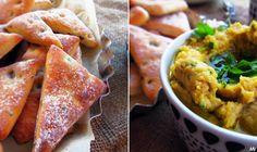 Kaakao kermavaahdolla: ♥ Pita-oliivikolmiot ja sitruuna-persiljahummus