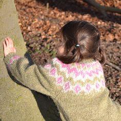 Knit Icelandic Toddler Sweater - Ístex Léttlopi