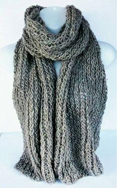 Beige stricken Schal recycelte Wolle Schal Recycling Schal