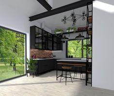Kolejny projekt kuchni w bardziej industrialnym wydaniu. Dużo metalowych elementów, cegła, beton oraz ciemne kolory. #kadawnetrza #mebleniedlakazdego #kuchnia #projektkuchni #projektkuchnia #projektowaniewnetrz #projektywnętrz #interior #interiordesign #design #kitchendesign #kitchen #küchenmöbel #möbel #loft #industrial #industrialny #black #czarny #czarnakuchnia #blackkitchen #cegla #beton #betonarchitektoniczny #stalowebelki #kadawnętrza Loft, Kitchen, Furniture, Instagram, Bar, Home Decor, Design, Cooking, Decoration Home