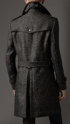 Wool Tweed Belted Coat | Burberry