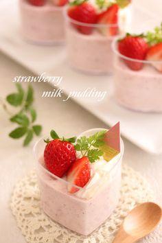 strawberry milk pudding
