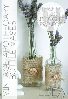 THRIFTY FINDS - UPCYCLED VINTAGE APOTHECARY BOTTLE VASES