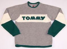 Tommy Hilfiger Crew Neck Sweater Boys Size 6 Multi-Color Long Sleeve Cotton #TommyHilfiger #Pullover #DressyEveryday