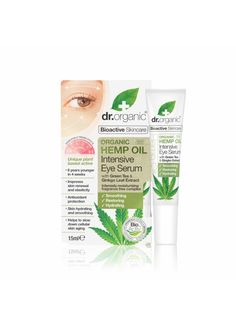 Natural Beauty is the Best Beauty. Dr Organic Hemp Oil Intensive Eye Serum | Organica