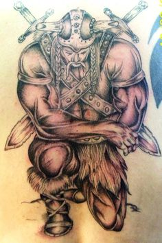 Fantastic Viking Tattoo For Back                              …