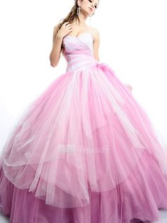 I feel like this is the dress that cinderella would have been wearing before the mice fixed her up! Still, very pretty!