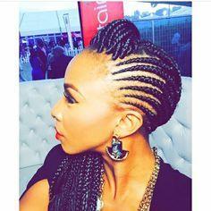 Cornrow braids. Boity Thulo.