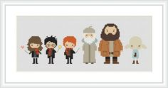 Harry Potter cross stitch pattern Ron Hermione PDF Pixel people Movie Instant Download Cross stitch chart Counted cross stitch sampler X218