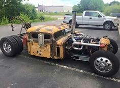 pictures of rat rod trucks Rat Rod Cars, Hot Rod Trucks, Cool Trucks, Big Trucks, Cool Cars, Weird Cars, Semi Trucks, Custom Rat Rods, Custom Trucks