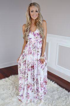 Fields of Freesias Maxi ~ Ivory – The Pulse Boutique