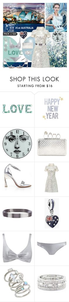 """#10 - My dream New Year's Eve @Australia"" by sylandrya ❤ liked on Polyvore featuring Fornasetti, Alexander McQueen, Naeem Khan, Halston Heritage, Pandora, Kendra Scott, Sole Society, Effy Jewelry, sequineddress and glitterdres"