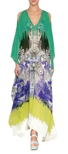 silk maxi kaftan from Etro #Stylebop