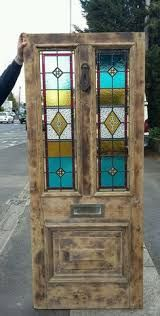 Image result for victorian terrace house with stain glass door