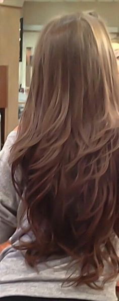 Very long hair with layers