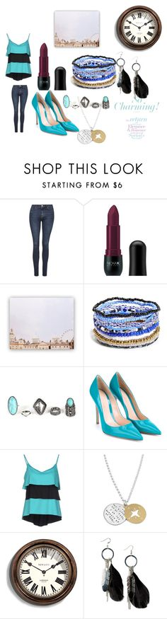 """the rooftops are so charming"" by cecjones ❤ liked on Polyvore featuring Topshop, Nicka K, Me to We, Gianvito Rossi, FISICO Cristina Ferrari, Newgate, MANGO, women's clothing, women and female"