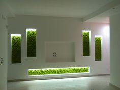 Best Indoor Garden Ideas for 2020 - Modern Green Wall Decor, Tv Wall Decor, Tv Wall Design, House Design, Tv Wanddekor, Stone Accent Walls, Modern Tv Wall Units, Living Room Tv Unit Designs, Room Partition Designs