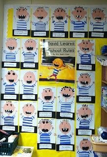 David Goes to School - i love david! Idea for art work to go with writing