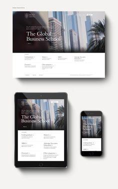 Hult International Business School digital rebrand.May to September 2015