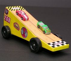 pinewood derby car ideas | That last one has a mini camera attached to the top to videotape the ...