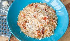 Receta de risotto de tomates secos y setas