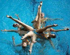 photo natation synchronisee