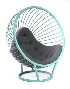 powder coated steel wire bubble chair designed by ben rousseau with fabric crib 5 rated