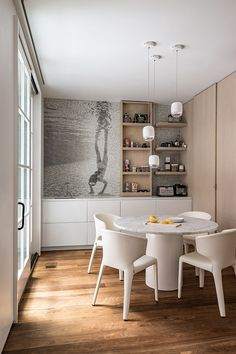 Approximately sq ft of select grade Walnut wide plank flooring was used throughout this Beacon Street home renovation. Interior Architecture, Interior And Exterior, Walnut Floors, Warm Home Decor, Wide Plank Flooring, Contemporary Interior Design, Kitchen Dining, Dining Room, Home Renovation