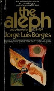 The Aleph and Other Stories by #JorgeLuisBorges