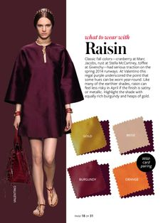 Color Coordiation - raisin. From InStyle