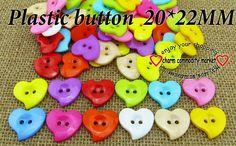 Barato Novo botão de plástico forma de coração artesanato jóias acessórios P 106, Compro Qualidade Botões diretamente de fornecedores da China:                 Material:                 Plástico                 Tamanho:                 20*22 mm