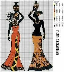 African Lady x-stitch Free Cross Stitch Charts, Cross Stitch Heart, Cross Stitching, Cross Stitch Embroidery, Cross Stitch Silhouette, Cross Stitch Pictures, Modern Cross Stitch Patterns, Blackwork, Cross Stitch Fairy