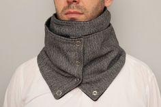 Mens  infinity scarf NECKWARMER infinity scarf  with by SenasShop