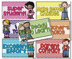 Free chevron clip chart - lots of other freebies in this post...