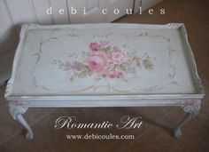 Just finished my antique coffee table! Now available at www.debicoules.com